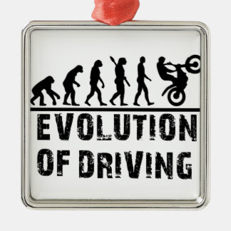 Evolution Of driving Silver-Colored Square Decoration