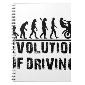 Evolution Of driving Spiral Notebook