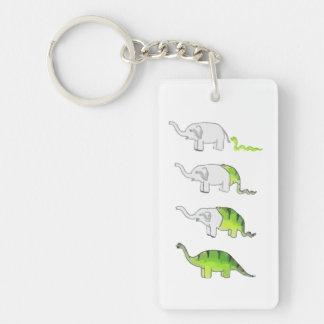 evolution of elephants to dinosaurs key ring