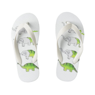 evolution of elephants to dinosaurs kid's thongs