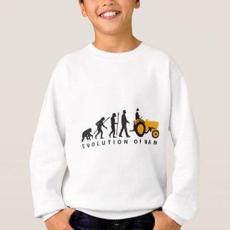 evolution OF far MER with tractor Sweatshirt
