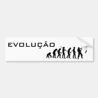 EVOLUTION OF FISHES BUMPER STICKER