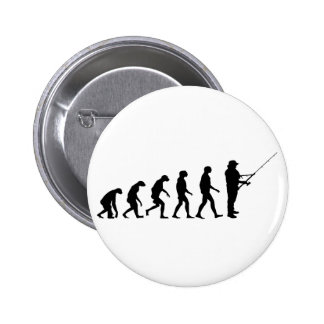 Evolution of Fishing 6 Cm Round Badge
