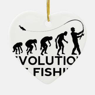 evolution of fishing ceramic ornament