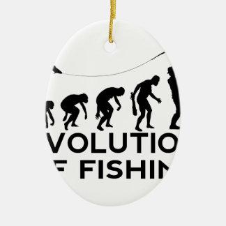 evolution of fishing ceramic oval decoration