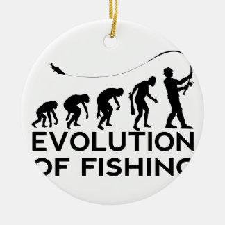 evolution of fishing round ceramic decoration