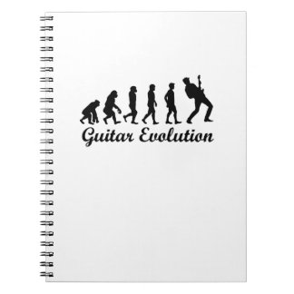 Evolution Of Guitar Funny Musical Gift Guitar Notebooks