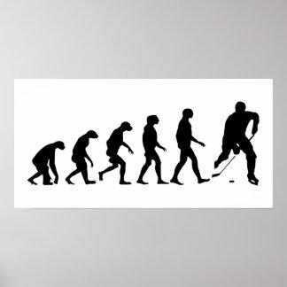 Evolution of Hockey Poster