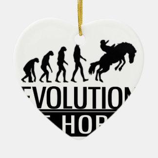 evolution of horse ceramic heart decoration