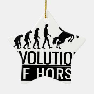 evolution of horse ceramic ornament