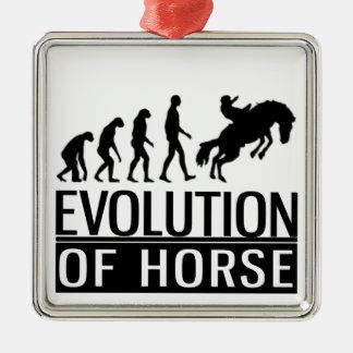 evolution of horse Silver-Colored square decoration