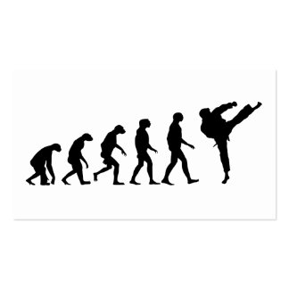 Evolution of Karate Pack Of Standard Business Cards