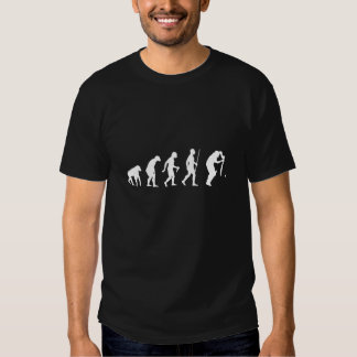 Evolution of Man and Cricket T-shirt