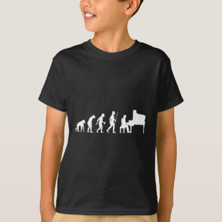 Evolution of Man and Piano T-Shirt