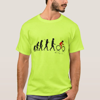 Evolution of Man into Cyclist Sportsman T-Shirt