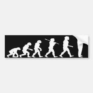 Evolution of Man Texting Dark Bumper Sticker