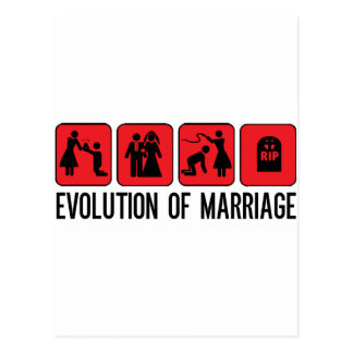 Evolution of Marriage Postcard