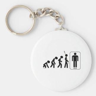 Evolution of Men Key Ring