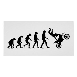 Evolution of Motocross Poster