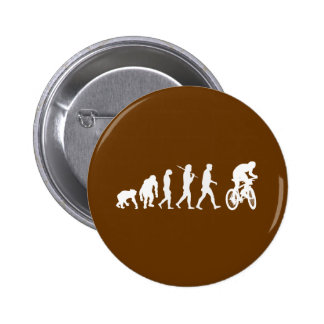 Evolution of mountain biking mountain bikers 6 cm round badge