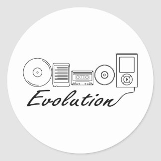 Evolution of Music Classic Round Sticker