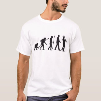 evolution OF one Clarinet more player T-Shirt