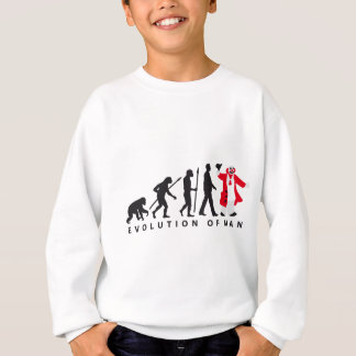 evolution OF one clown Sweatshirt