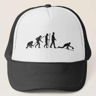 Evolution OF one curling Trucker Hat