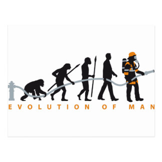 evolution OF one fire more fighter Postcard