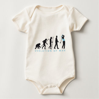 Evolution OF one gulf more player Baby Bodysuit