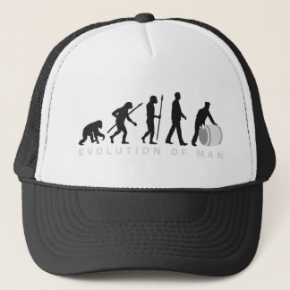 evolution OF one harbour more worker rolling A Trucker Hat
