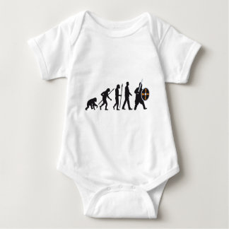 evolution OF one knight with sword and shield Baby Bodysuit