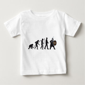 evolution OF one knight with sword and shield Baby T-Shirt