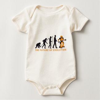 evolution OF one robot Baby Bodysuit