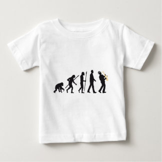evolution OF one saxophones more player Baby T-Shirt