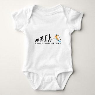 Evolution OF one skiing Baby Bodysuit