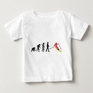 Evolution OF one skiing Baby T-Shirt