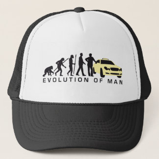 evolution OF one taxi more driver Trucker Hat