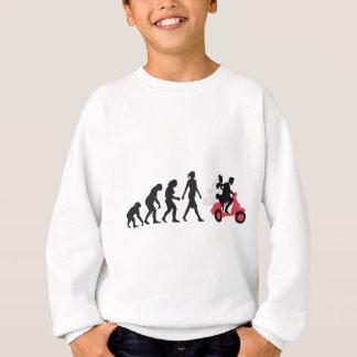 evolution OF one wedding more scooter Sweatshirt