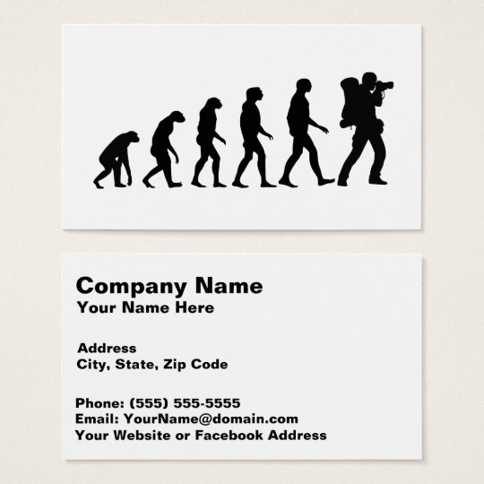 Evolution of Photography 4 Amazing Business Card