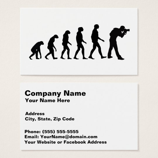 Evolution of Photography 6 Amazing Business Card