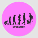 Evolution of shopping round stickers