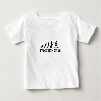 Evolution Of Ski Baby T-Shirt