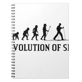 Evolution Of Ski Spiral Notebook