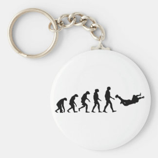 Evolution of Skydiving Basic Round Button Key Ring