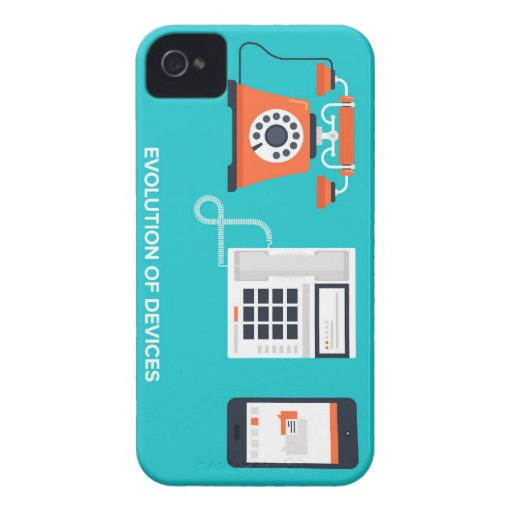 Evolution of telephone devices iPhone 4 cover