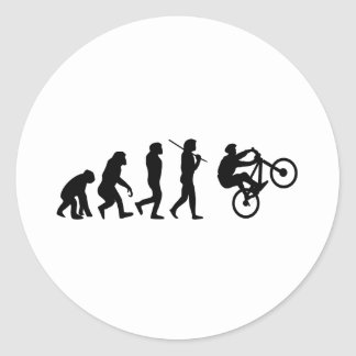 Evolution of the cyclist classic round sticker