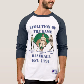 Evolution of the Game--Baseball T-Shirt