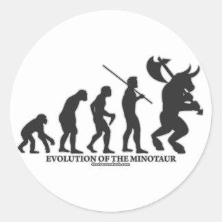Evolution of the MInotaur Classic Round Sticker
