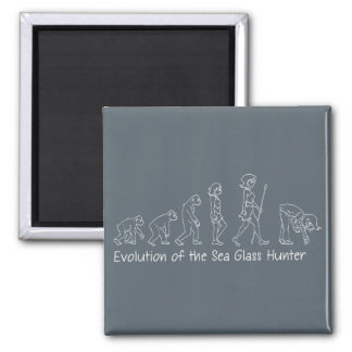 Evolution of the Sea Glass Hunter Square Magnet